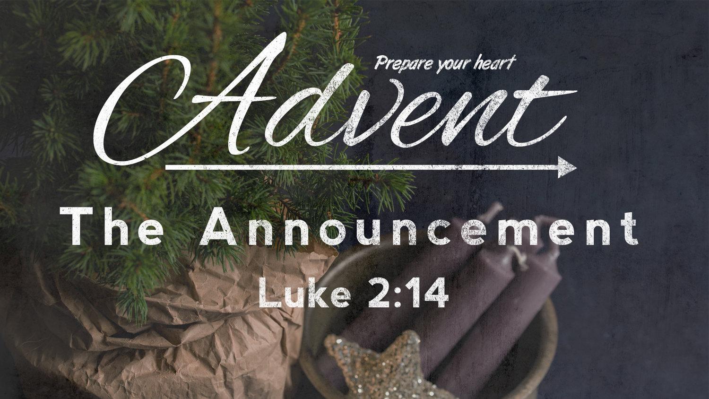 Advent Announcement