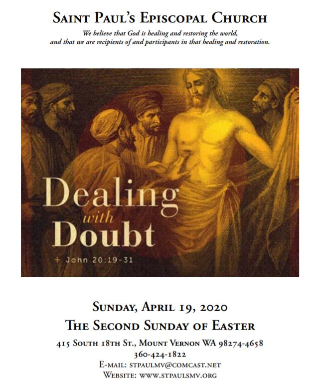 Bulletin for Easter 2.