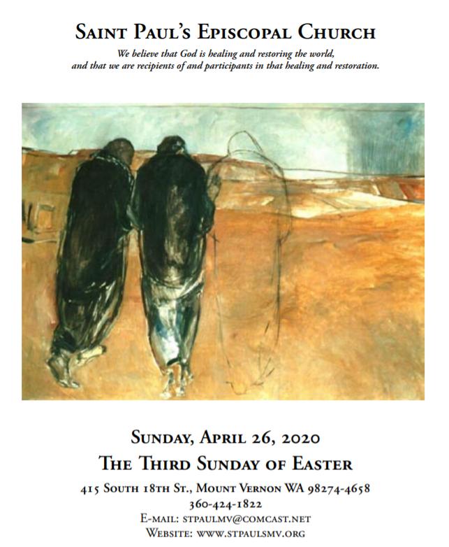 April 26, 2020 (Easter 3)