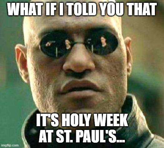 It's Holy Week!!!!
